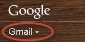 Click on the arrow to the right of the word, Gmail